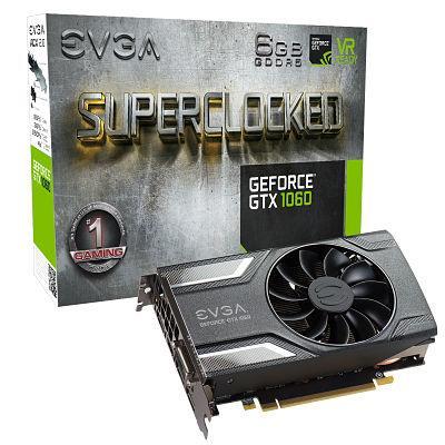 PLACA DE VIDEO GEFORCE PCIE GTX 1060 SC GAMING 6G DDR5 EVGA