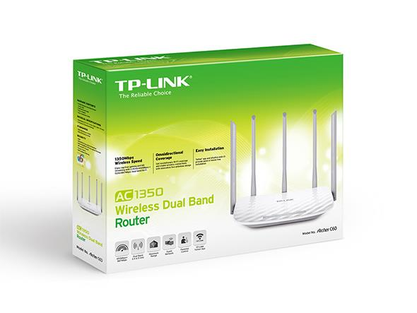 TP-LINK WIFI ROUTER ARCHER C60 AC1350 DUAL BAND