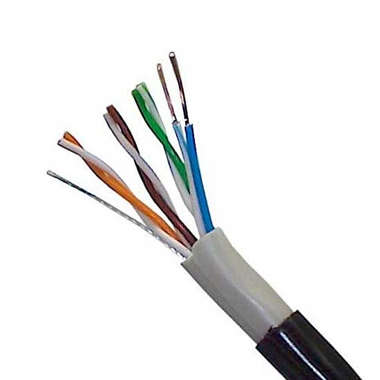 E-VIEW CABLE UTP CAT5E CCA 300M EXTERIOR DOBLE VAINA