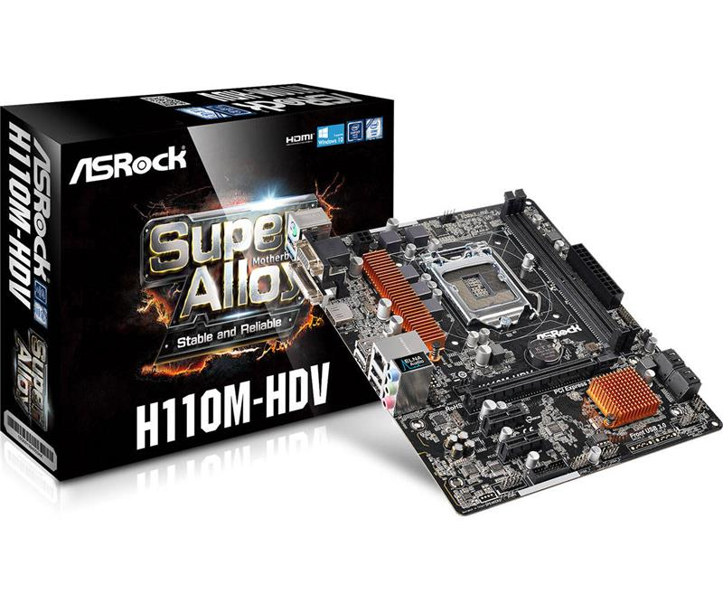 MOTHER ASROCK H110M-HDV 1151