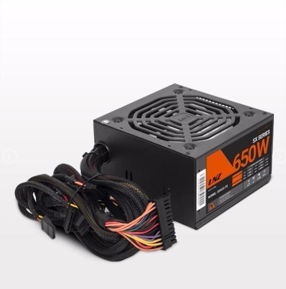 FUENTE LNZ SX650-FSRL ATX FAN ROJO LED