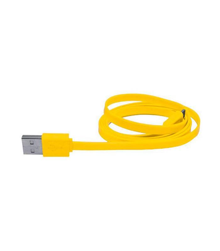 CABLE USB A MICRO USB/1.2 METRO/MALLADO/GOLD USB-4_AMARILLO